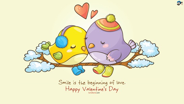 Valentine Day Smile Wallpaper