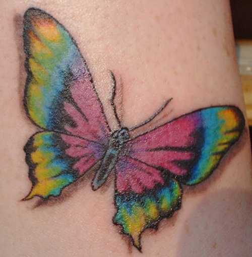 beautiful butterfly valentine's day tattoos on neck for girl