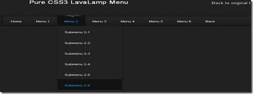 Pure CSS3 Lava Lamp Menu