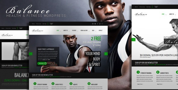 Balance - Gym Fitness WordPress HTML 5 Theme
