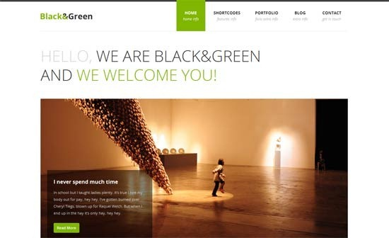 Black&Green – Responsive HTML site