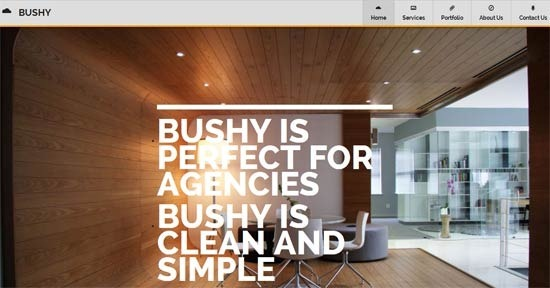 Bushy – Responsive, One Page Agency Template