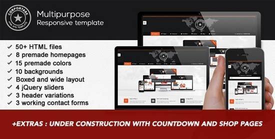 Corportase multipurpose responsive site template
