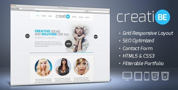 CreatiBe - Responsive HTML Template