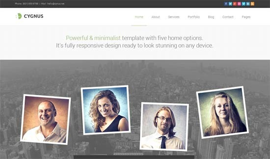 Cygnus – Minimalist Business Template 8
