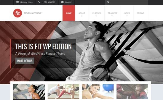 FIT – Fitness-Gym Responsive WordPress Theme