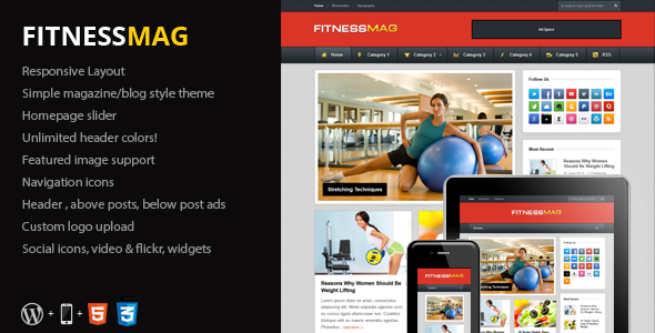 FitnessMag - Responsive Blogging WordPress Theme