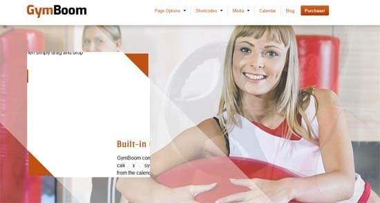 GymBoom – A Responsive Fitness Gym