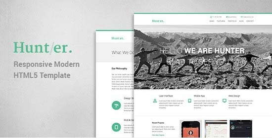Hunter – Responsive Modern HTML5 Template