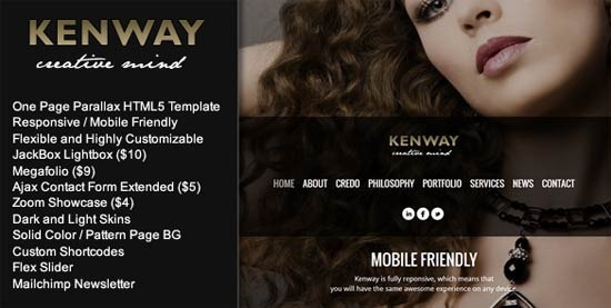 Kenway – Responsive Parallax HTML5 Template