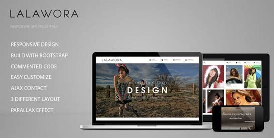 Lalawora – One Page HTML5
