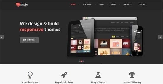 Webpaint – Multipurpose Responsive HTML5 Template