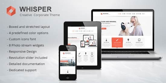 Whisper – Creative Corporate Theme