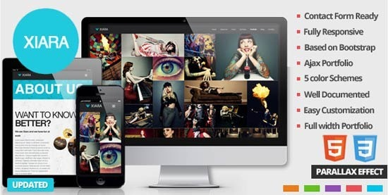 Xiara – Responsive Onepage Parallax HTML Template