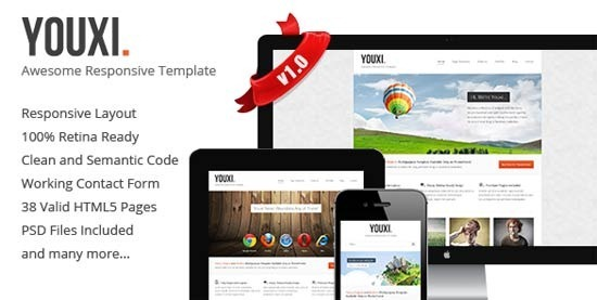 Youxi – Multipurpose Responsive HTML5 Theme