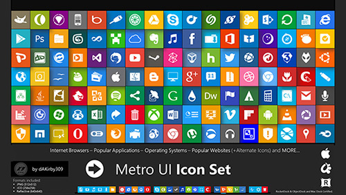 Metro UI Icon Set