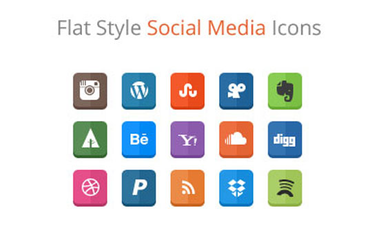 30-Free-Flat-Style-Social-Media-Icons