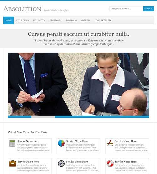 Absolution-Free-PSD-Website-Template