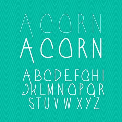 Acorn-Typeface