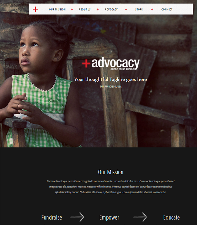 Advocacy-Adobe-Muse-NonProfit-Theme