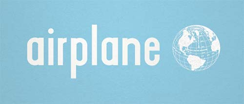 Airplane font for hipsters