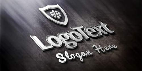 Elegant-Metallic-Logo-Mockup