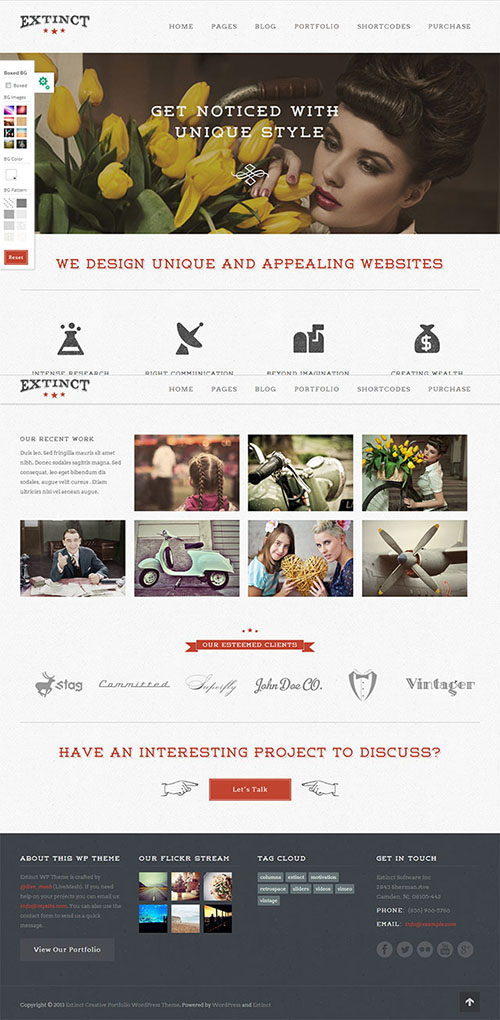 Extinct-WordPress-Theme
