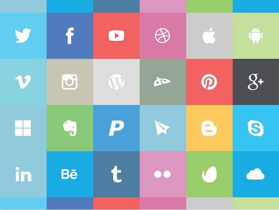 Free-Flat-Social-Icon-Set