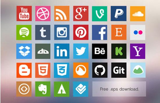 Free-Flat-Social-Media-Icon-Set