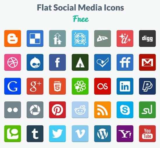 Free-Flat-Social-Media-Icons-PNG-PSD