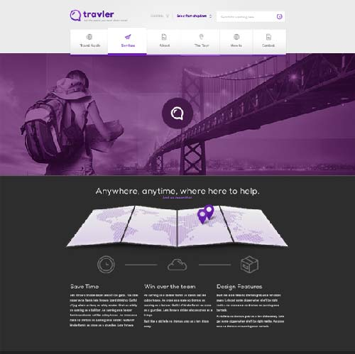 Free-PSD-Webdesign-Travler-by-Blaz-Robar