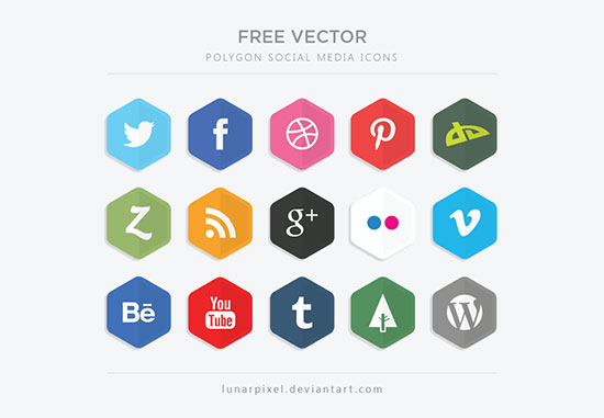 Free-Vector-Polygon-Social-Media-Icons