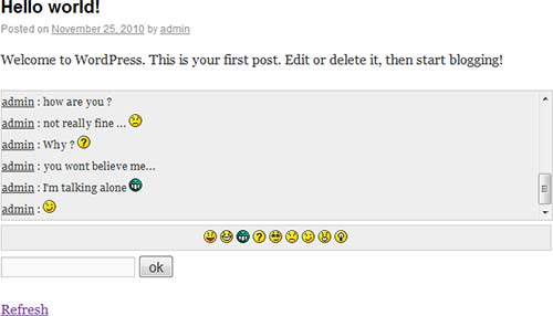 Javascript-Chat-for-WordPress
