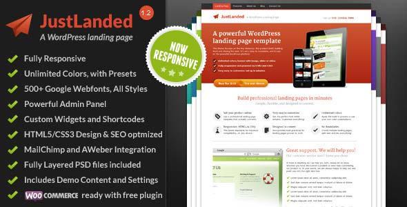 JustLanded-WordPress-Landing-Page