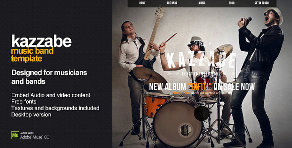 Kazzabe-One-Page-Music-Band-Template