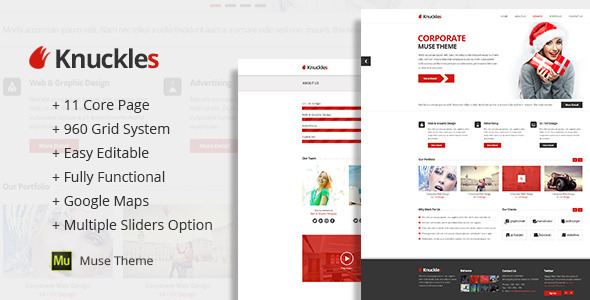 Knuckles-Adobe-Muse-Template