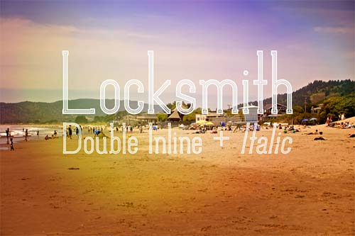 Locksmith-Display hipster font