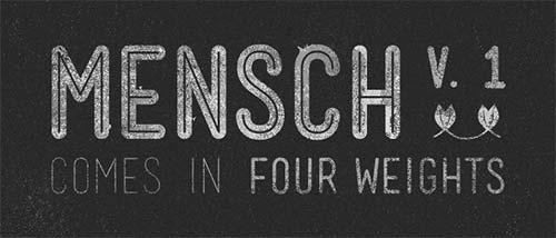 MENSCH-hipster-typeface