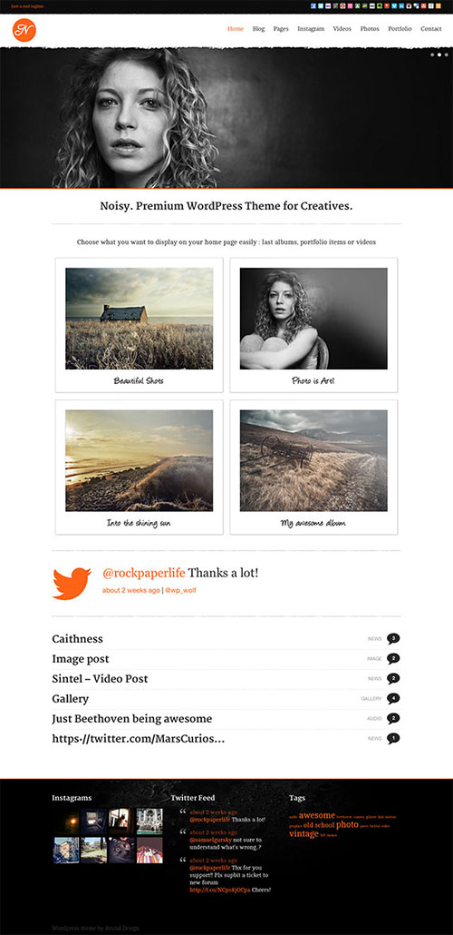 Noisy-Responsive-Theme-for-Creatives
