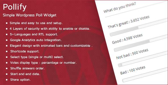 Pollify-Simple-Wordpress-Poll-Widget