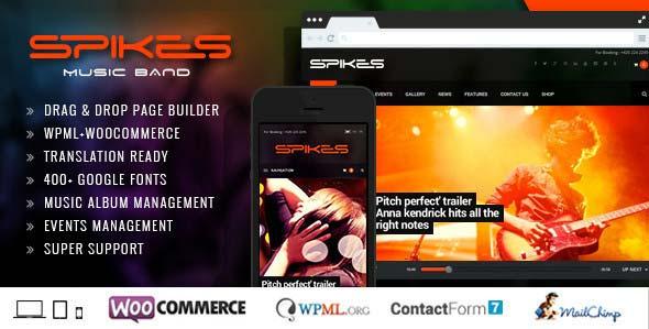 Spikes-Music-Band-Wordpress-Theme