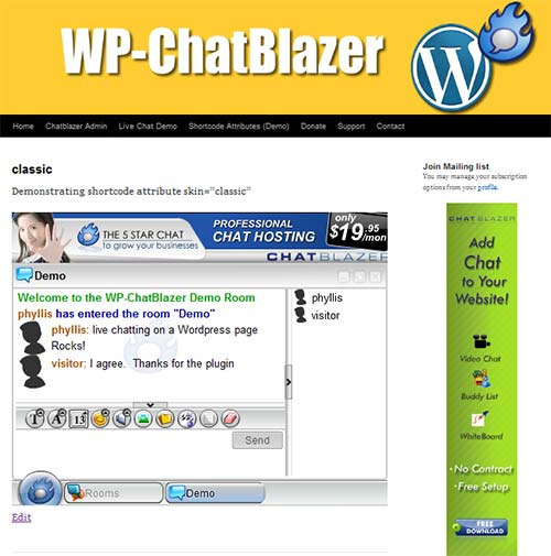 WP-ChatBlazer