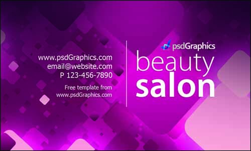 Latest Free Business Card PSD Templates PSDreview Part - Beauty salon business cards templates free