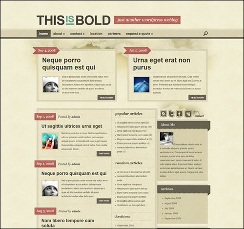bold retro wordpress theme
