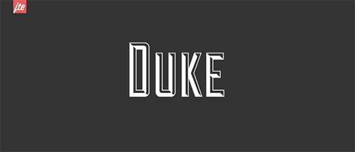 duke-A-CHISELED-TYPEFACE Hipster Font