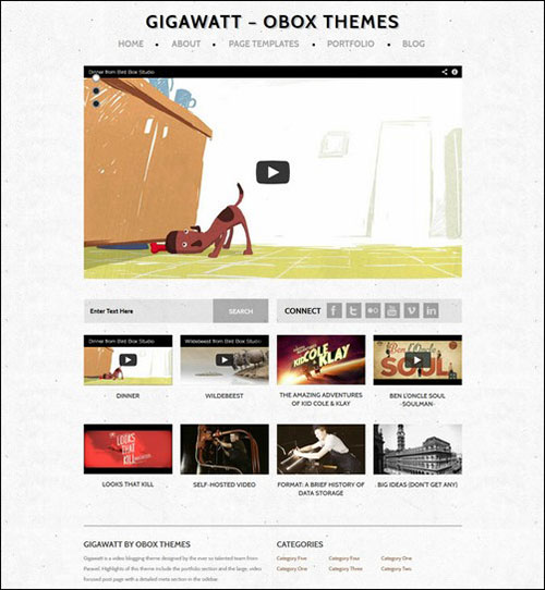gigawatt retro wordpress theme