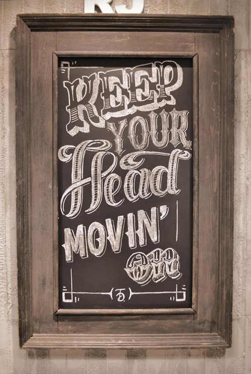 Keep you head movin' on