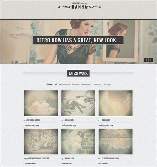 hanna retro wordpress theme