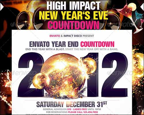 90 Best Free Photoshop PSD Flyer Templates – Free New Years Eve Flyer Template