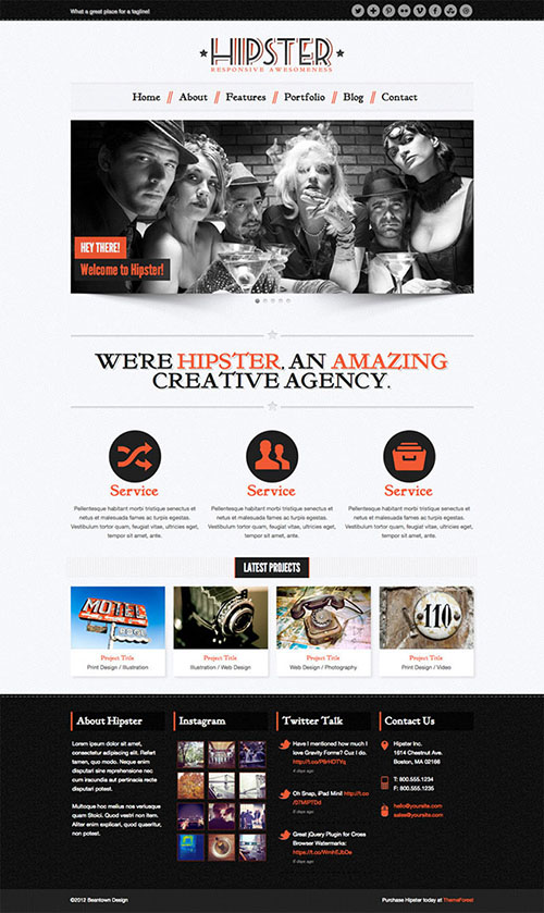 hipster-retro-wordpress-theme